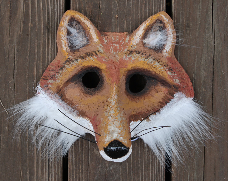 Paper Mache Mask - Fox