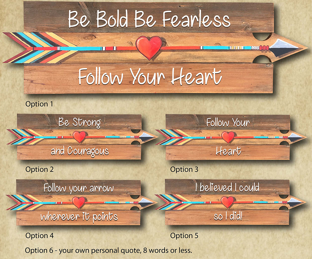 Inspirational Arrows (Adult Party) @ Voss Creative — Art That Inspires!!! 207 N. Main St. Cheney Kansas