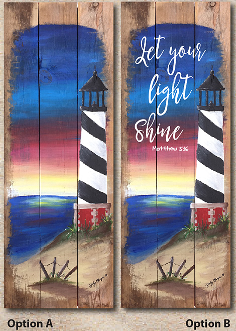 Majestic Lighthouse (Adult Party) @ Voss Creative — Art That Inspires!!! 207 N. Main St. Cheney Kansas